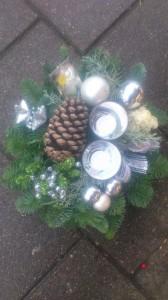 Kerststukje Wit